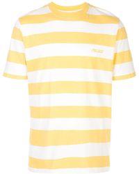 Palace ストライプ ロゴ Tシャツ - イエロー