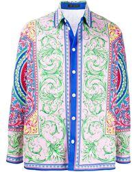 Versace Camicia con stampa - Rosa