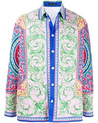 Versace Hemd mit Barock-Print - Pink