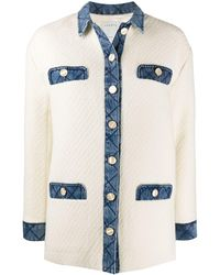 Sandro Veste en tweed - Blanc