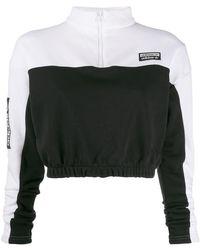 adidas クロップド プルオーバー - ブラック