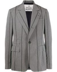 Vivienne Westwood ストライプ ジャケット - グレー