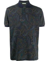 Etro ペイズリーポロシャツ - ブルー