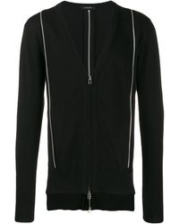 Unconditional Zipped Cardigan With Metallic Detail