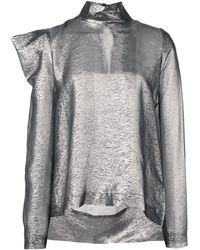 Dice Kayek Structured Shoulders Blouse - Metallic