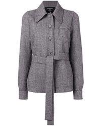 Rochas - Buttoned Tweed Jacket - Lyst