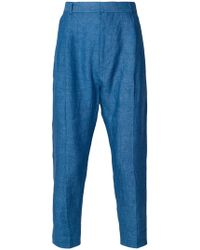 Ann Demeulemeester Grise - High Waisted Cropped Trousers - Lyst