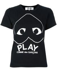 COMME DES GARÇONS PLAY ハートロゴ Tシャツ - ブラック