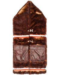 CALVIN KLEIN 205W39NYC ポケット ロング マフラー - マルチカラー