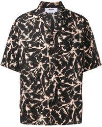 MSGM Рубашка С Принтом - Черный