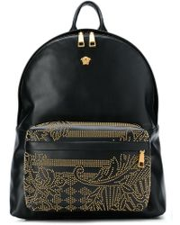 cbf1e069a8 Versace Palazzo Backpack in Black for Men - Lyst