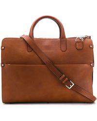 Brunello Cucinelli Structured Tote Bag - Brown