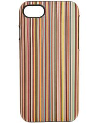 Paul Smith Striped Iphone 7/8 Case - Yellow