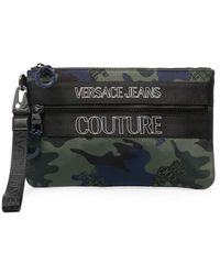 Versace Jeans Couture カモフラージュ クラッチバッグ - グリーン