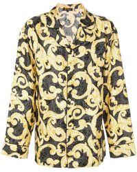 Versace - Barocco Print Pyjama Shirt - Lyst