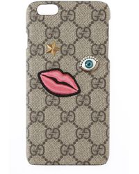 Gucci Чехол Для Iphone 6 С Узором Из Монограмм - Серый