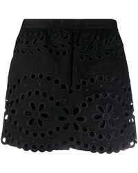RED Valentino Broderie Anglaise Skorts - Black