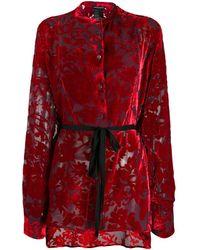 Ann Demeulemeester Blouse à motif floral - Rouge