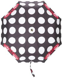 Moschino Paraguas con estampado de lunares - Negro