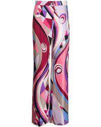 Emilio Pucci Брюки Широкого Кроя С Абстрактным Принтом - Многоцветный