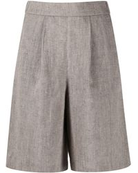 Peserico Pleated Chino Shorts - Brown