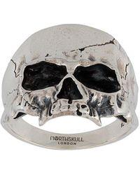 Northskull Кольцо Disfigured Medius Skull - Многоцветный