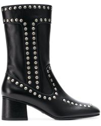 COACH - Studded Boots - Lyst
