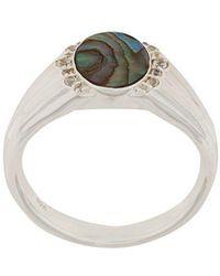 Astley Clarke - Abalone Luna Signet Ring - Lyst