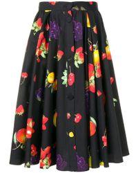 MSGM - Fruit Print Skirt - Lyst