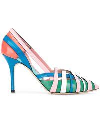 Emilio Pucci - Zapatos de tacón tejidos en colour block - Lyst