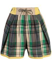 Sacai - Pantalones cortos a cuadros - Lyst