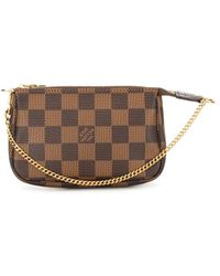 Louis Vuitton 2012 Pre-owned Mini Damier Ebene Pochette Accessoires Pouch - Brown