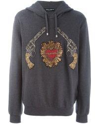"""Dolce & Gabbana - Sweat à capuche """"Sacred Heart"""" - Lyst"""