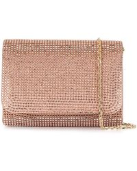 Rene Caovilla Stain Crystal Embellished Clutch - Pink