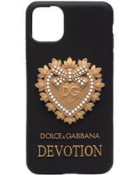 Dolce & Gabbana Iphone 11 Pro Max Devotion Hoesje - Zwart