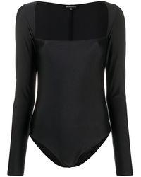 Ann Demeulemeester Square Neck Bodysuit - Black