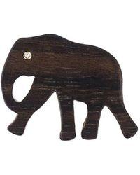 Marc Alary Elephant Pendant 3チャームネックレス - マルチカラー
