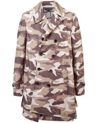 Comme des Garçons - Camouflage Double-breasted Coat - Lyst