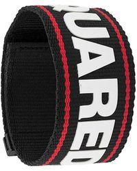DSquared² Logo Tape Bracelet - Black