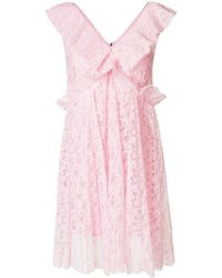 MSGM - Embroidered Dress - Lyst