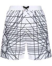 Philipp Plein Плавки-шорты С Логотипом - Белый