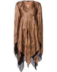 Plein Sud - V-neck Draped Dress - Lyst