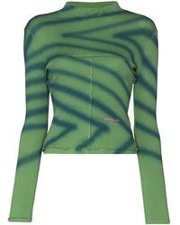 Eckhaus Latta Lapped Baby Tシャツ - グリーン