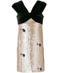 Talbot Runhof - Sequin Embellished Dress - Lyst