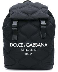 Dolce & Gabbana Rucksack mit wellenförmiger Steppung - Schwarz