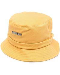 Jacquemus Панама С Логотипом - Желтый