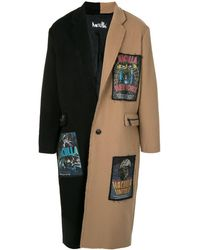 Haculla Two-tone Panel Coat - Black