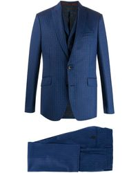 Etro ロゴ スーツ - ブルー