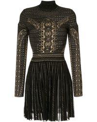 Roberto Cavalli - Henna Motif Short Dress - Lyst