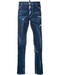 DSquared² Gescheurde Jeans - Blauw